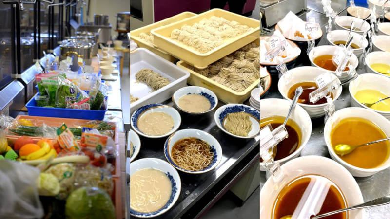 continuously testing different and new noodles, soups, etc.