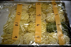 Noodles should be kept from drying