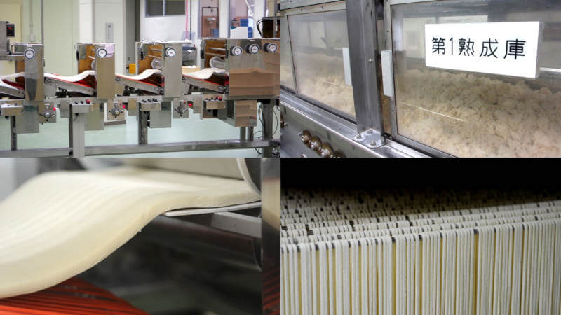 noodle factory producing udon, ramen, and soba noodles
